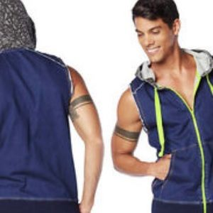 Zumba Denim Dance Hoodies Men's Medium
